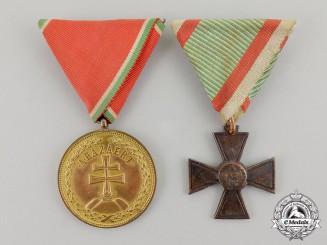 Hungary, Kingdom. A Pair of Awards