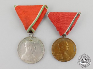Hungary, Kingdom. Two Bravery Medals