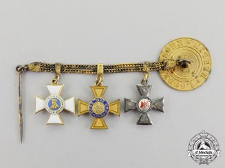 Hesse. A Miniature Imperial Order of Philip Award Chain by Godet & Sohn