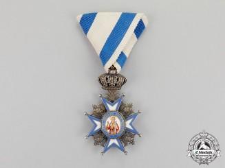 Serbia. A Serbian Order of St. Sava; 5th Class, Type I
