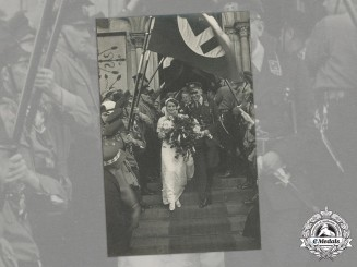 Germany. An Early Wedding Photo of an SA Obertruppführer