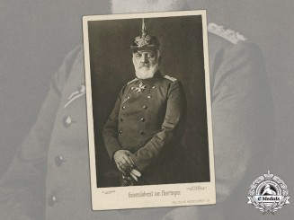Germany, Imperial. A Period Postcard With Studio Portrait Of Generaloberst Josias von Heeringen (Pour le Mérite)