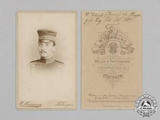 Germany (Imperial). Soldier's Studio Portrait Photograph, c. 1884