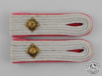 Germany. A Mint and Unissued Set of Wehrmacht Panzer Oberleutnant Shoulder Boards