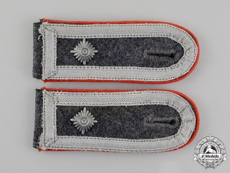 Germany. A Mint Set of Matching Luftwaffe Flak Feldwebel Rank Shoulder Straps