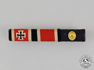 Germany, Republic. An Iron Cross and Gold Grade Wound Badge Ribbon Bar, Alternative 1957 Version