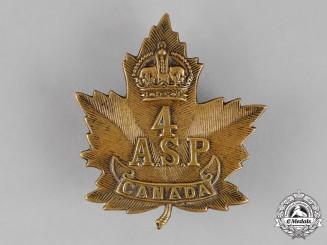 Canada. A Rare 4th Ammunition Sub Park Cap Badge