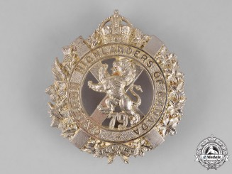 Canada. A 79th Cameron Highlanders of Canada Bonnet Badge, c. 1910