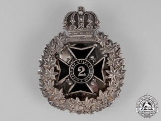 Canada. A Victorian 2nd Regiment Queen's Own Rifles of Canada Shoulder Belt Plate, c. 1870