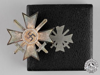 Germany, Third Reich. A Mint War Merit Cross I Class with Swords, by Deschler