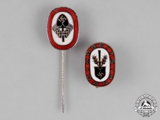 Germany. Two RAD (National Labour Service) Stick Pins and Badges