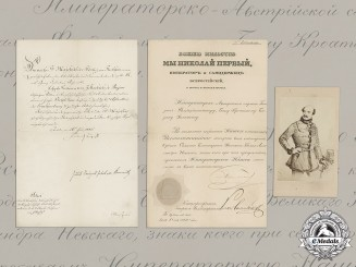 Croatia. A Historically Important Pair of Award Documents to National Hero Josip Jelačić von Bužim