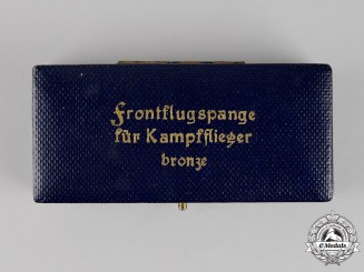 Germany. A Case for a Front Flying Clasp for Day Fighters, Bronze Grade