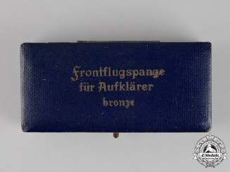 Germany. A Case for a Front Flying Clasp for Reconnaisance Units, Bronze Grade