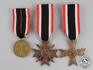 Germany. Three War Merit Crosses and Medals