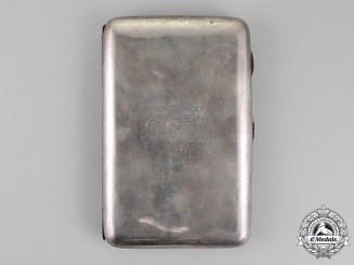 United Kingdom. A Sterling Cigarette Case, 2nd Brigade, 4th Battalion, Royal East Kent Regiment, c.1917