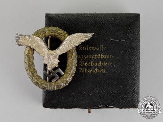 Germany. A Cased Luftwaffe Combined Pilots/Observer Badge, by F. Linden of Lüdenscheid, c. 1944