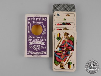 Germany. A Complete Set of Double-Headed German Playing Cards by Schimd of München
