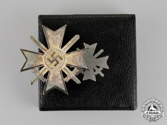 Germany. A War Merit Cross First Class with Swords, Cased, by Deschler & Sohn