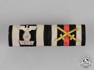 Germany. A Ribbon Bar with Type I Clasp of the Iron Class Second Class