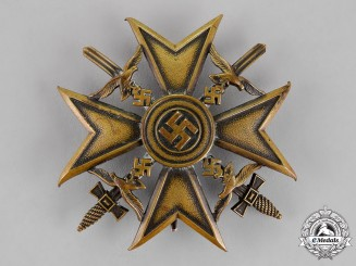 Germany. A Spanish Cross, Bronze Grade, with Swords, c.1939