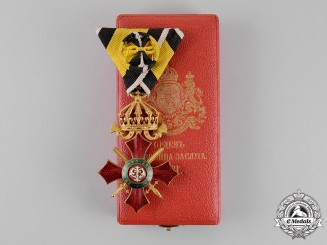 Bulgaria, Kingdom. A Military Merit Order, 4th Class, Officer, Cased