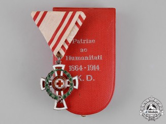 Austria, Empire. An Honour Decoration of the Red Cross, 2nd Class with War Decoration, Cased