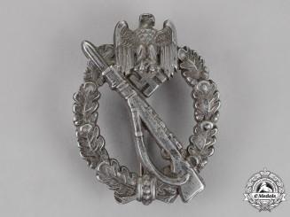 Germany. A Infantry Assault Badge, Silver Grade, by F.W. Assmann & Söhne of Lüdenscheid