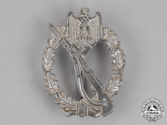 Germany. A Infantry Assault Badge, Silver Grade, by an Unknown Maker
