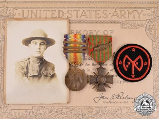 United States. A Medal Pair to James M. Connolly, Company K, 106th Infantry Regiment, 27th Infantry Division, KIA