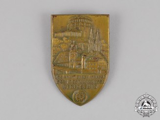 Germany. A KDF Strength Through Joy Brown Exhibition in Regensburg Badge