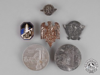 Germany. A Grouping of Six Badges and Pins
