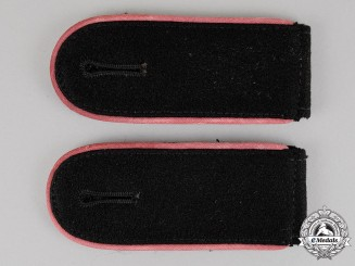 Germany. A Set of Waffen-SS Panzer Enlisted Man Shoulder Straps; Strap-On Type