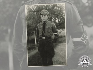 Germany, HJ. A Period Portrait of an Early HJ Member, c.1935