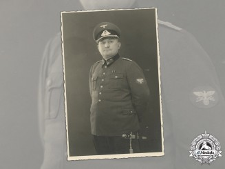 Germany, Postschutzpolizei. A Rare Wartime Studio Portrait of a Zughauptführer with Dagger