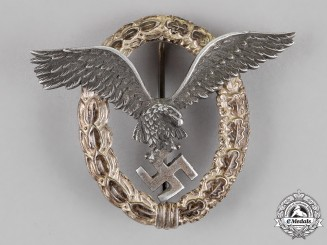 Germany. A Luftwaffe Pilot's Badge, by F. W. Assmann & Söhne of Lüdenscheid