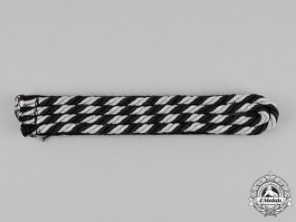Germany. A Single Waffen-SS Mann to Hauptscharführer Rank Shoulder Board, Sew-On Type