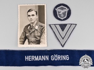 Germany. A Luftwaffe Hermann Goering Division Group
