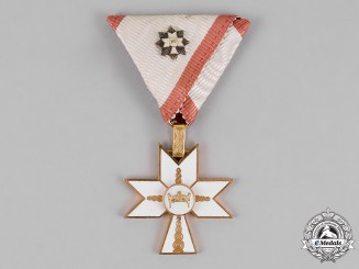 Croatia. An Order of King Zvonimir's Crown, Third Class Knight, with GC Miniature