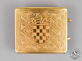 Croatia. An Army Officer's Belt Buckle, c. 1995