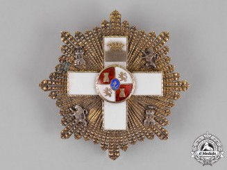 Spain. An Order of Military Merit; 3d Class Breast Star with White Distinction