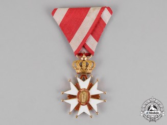 Italian State, Tuscany. An Order of Saint Joseph, Knight in Gold, c.1880