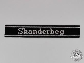 Germany. A Waffen-SS Skanderbeg Cuff-title