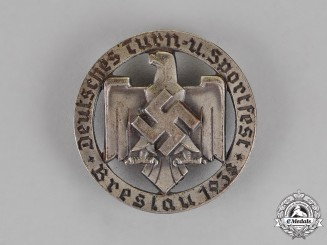 Germany. A German Breslau Gymnastics and Sports Festival Badge, c. 1938, by Robert's Neffe