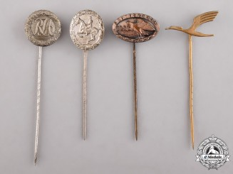 Germany. Four Miniature Stick Pins
