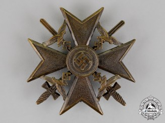 Germany. A Spanish Cross, in Bronze, with Swords, by Berg & Nolte of Lüdenscheid