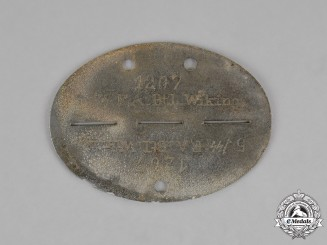 "Germany. A Waffen-SS Field Artillery Battailon ""Wiking"" Identifiaction Tag"