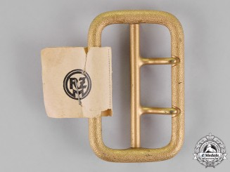 Germany. A Mint and Unissued Political Dual Prong Buckle, by Dominik Schönbaumfeld of Vienna
