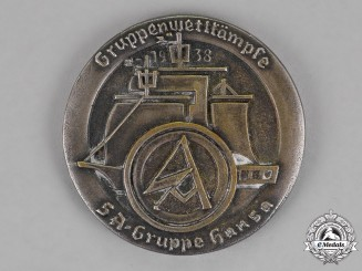 Germany. A SA-Group Hansa Championships Badge, Second Place, c. 1938