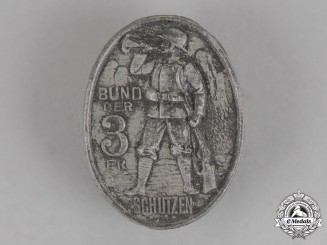 Germany. A League of Marksmen of the 3rd Regiment Badge